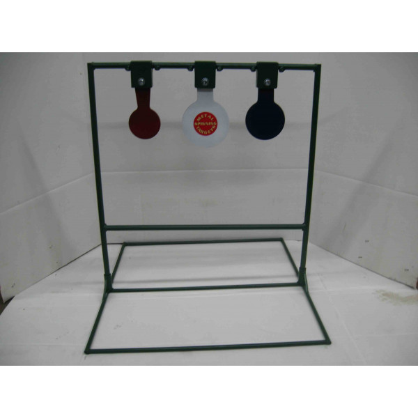 Triple shooting metal target stands with optional base