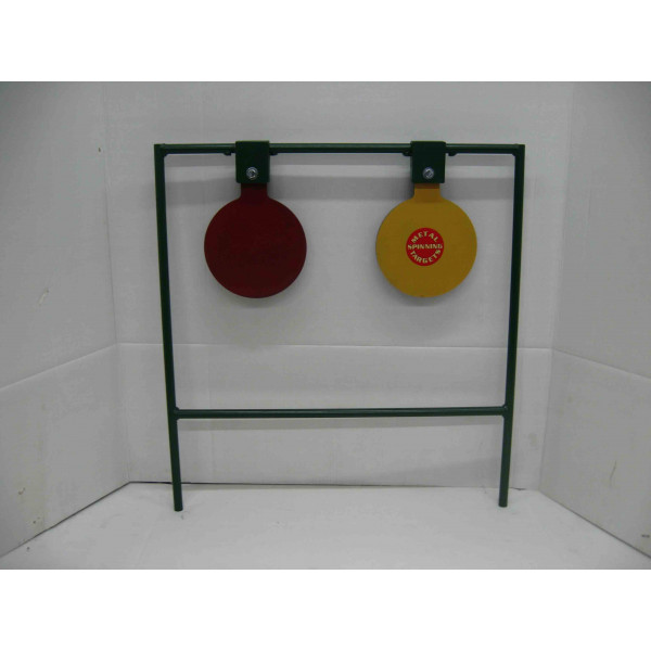 Double Large Spinning Steel Shooting Taget Stands