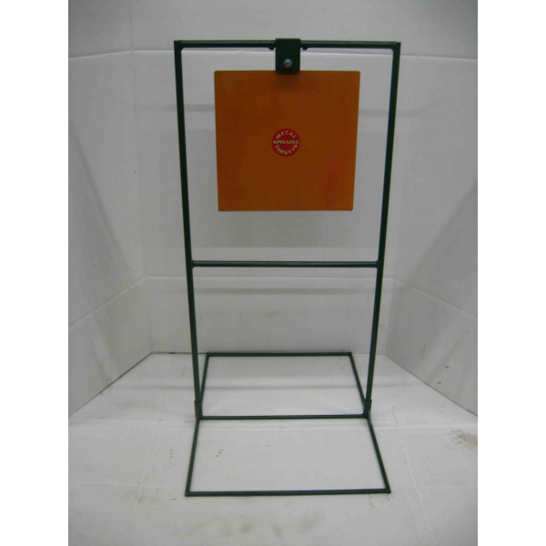 "15"" Square Steel Shooting Target - Rifle Target Stands With Base"