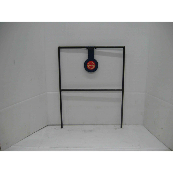 Single spinning steel shooting target for pistol shooting
