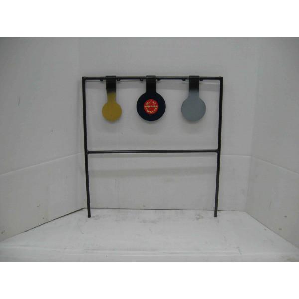 Triple metal shooting metal targets