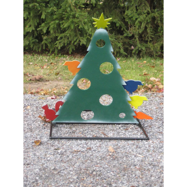 Christmas Tree Deuling Trees Target Stand - Steel Shooting Targets Ornaments Revealed
