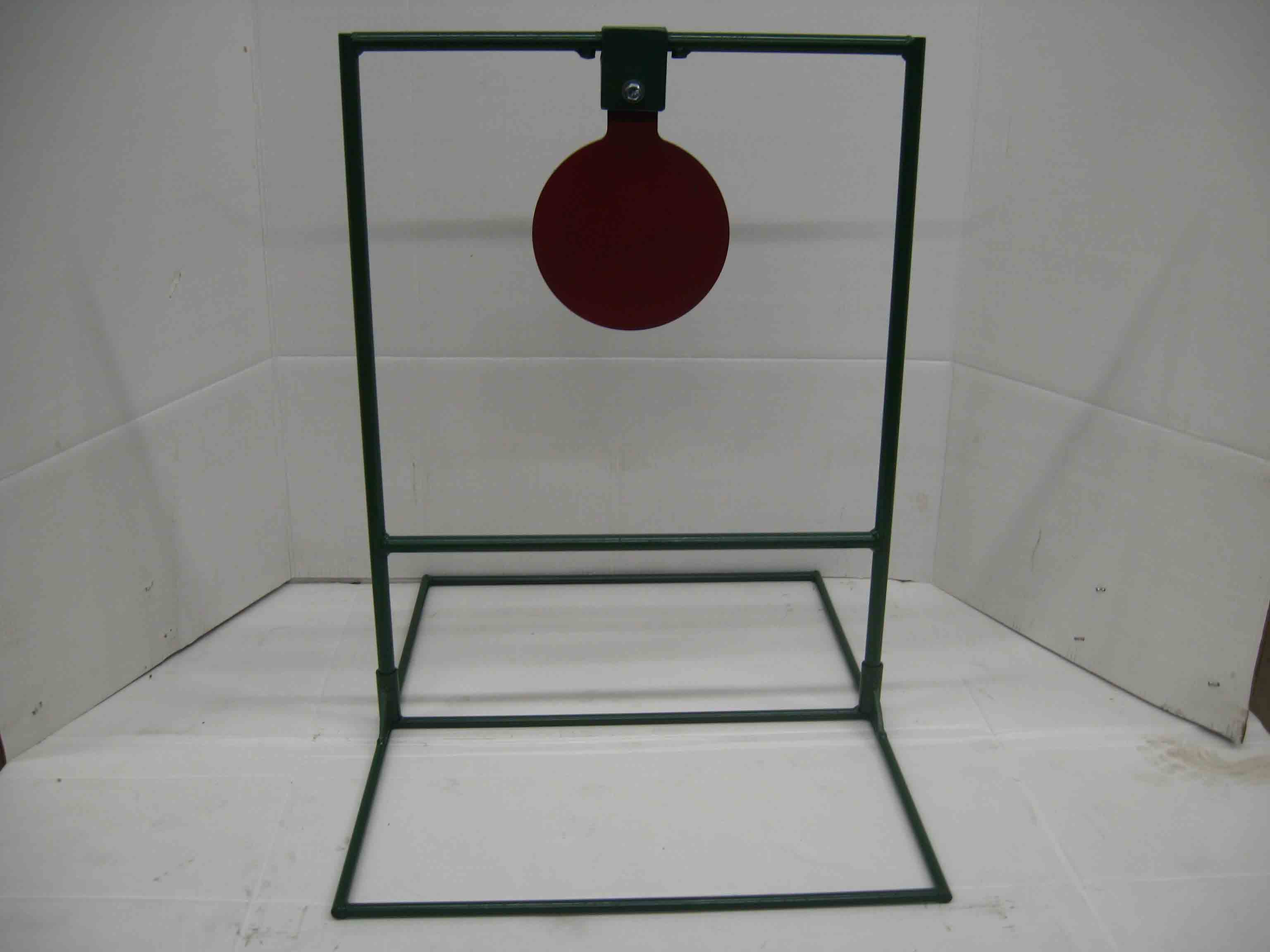 Single large metal spinning taget for rifle shooting with target stands