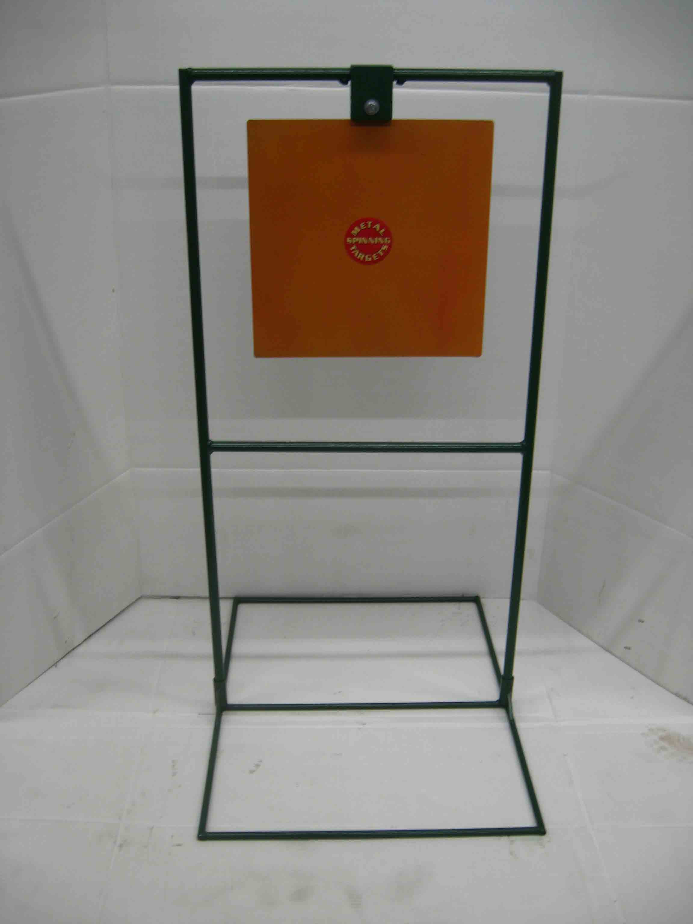 "15"" Square Steel Shooting Targets - Pistol with Target Stands"