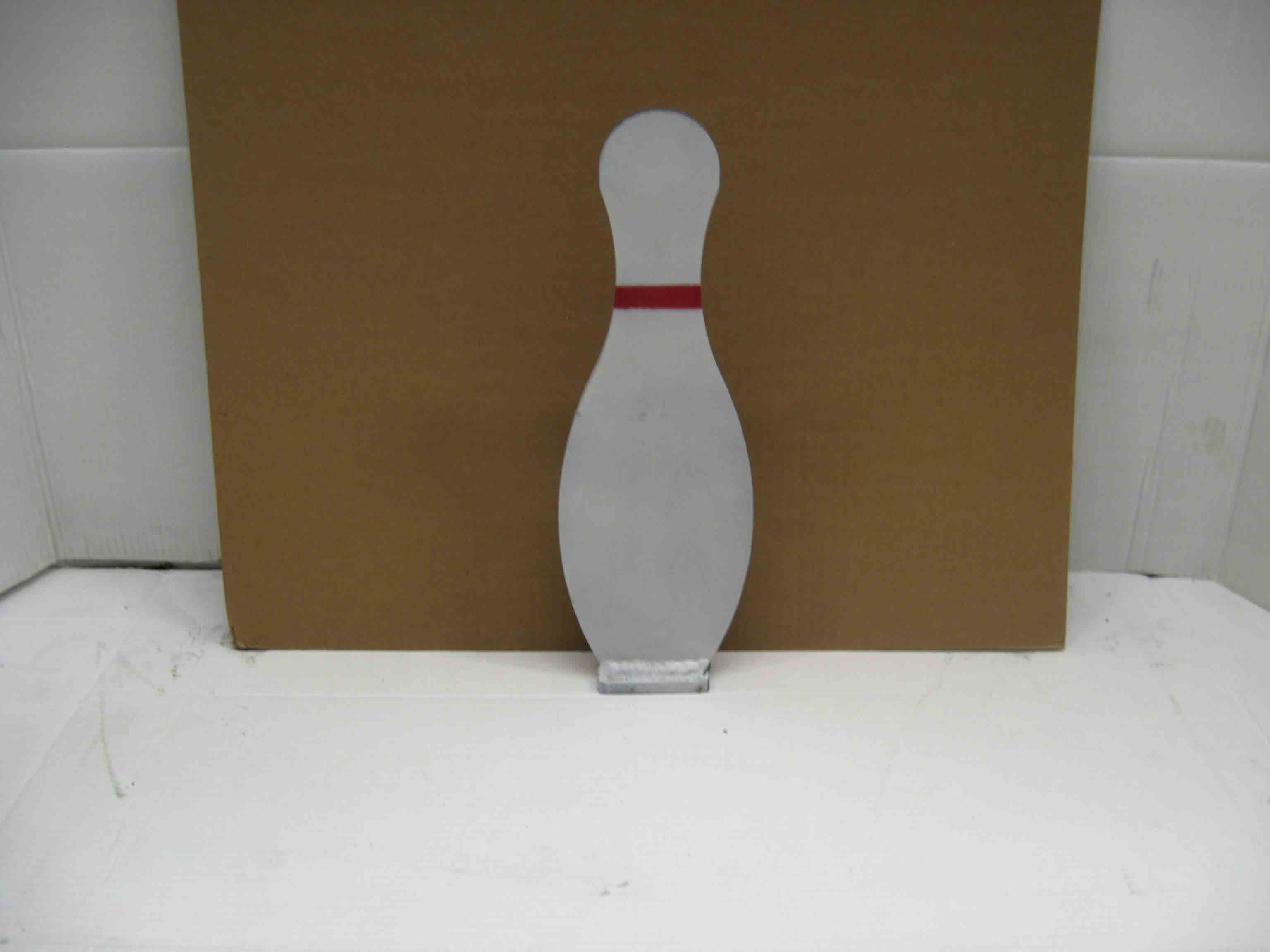Bowling pin Knock Down Plates 6 Pack Steel Shooting Targets