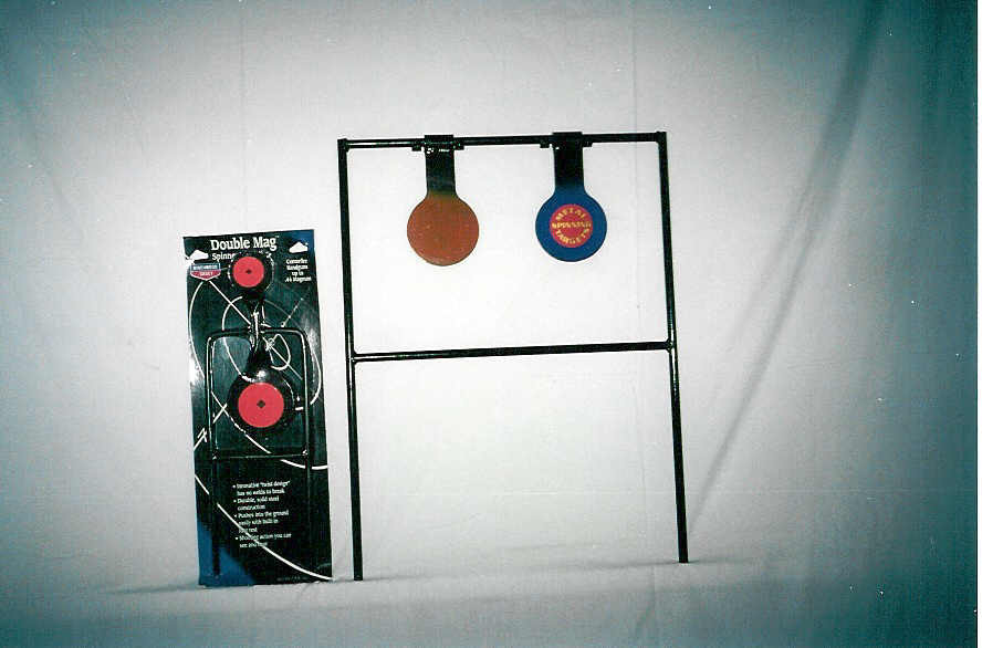 Double circle spinning target stands