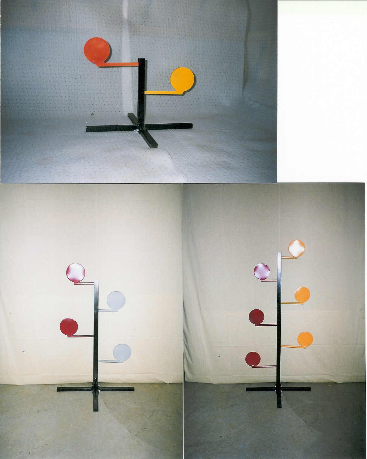 2, 4, or 6 paddle dueling tree target stands