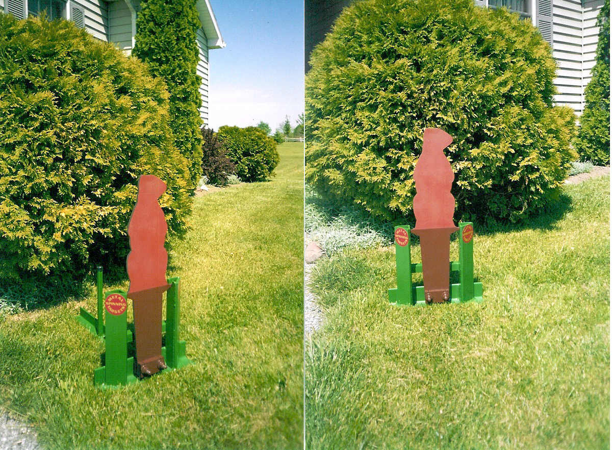 Woodchuck shaped auto reset targets for pistol shooting