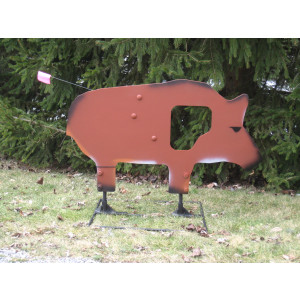 Life-Size Texas Hog with Swing-Out Vitals-All