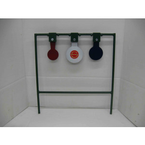 Triple shooting metal targets for rife shooting