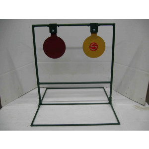 Double Large Spinning Steel Shooting Taget Stands with Optional Base