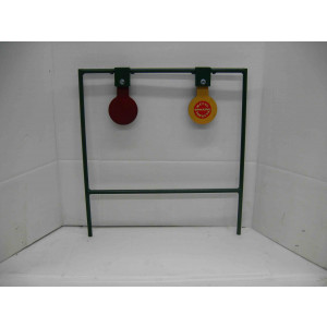 Double spinning metal target stands