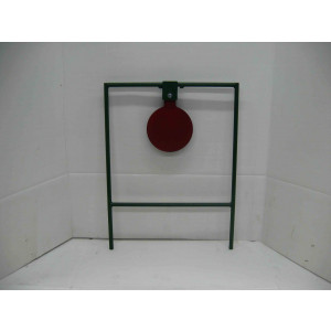 Single large metal spinning taget for rifle shooting