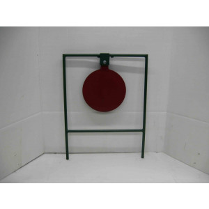 Large 12-inch gong shooting metal target and target stand with base