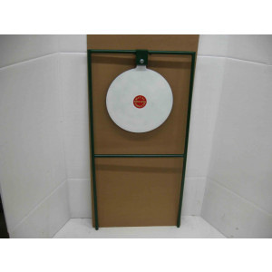 "15"" Circle Gong Tall Boy Target - Rifle Target Stand Mounted"