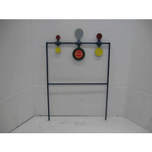 Triple shooting metal target for rimfire shooting