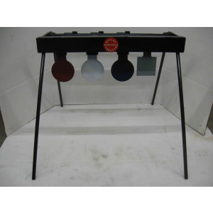 3 Paddle Auto Reset Target for Pistol on black target stands