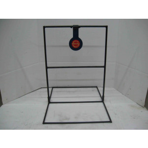 Single spinning steel shooting target for pistol shooting with base