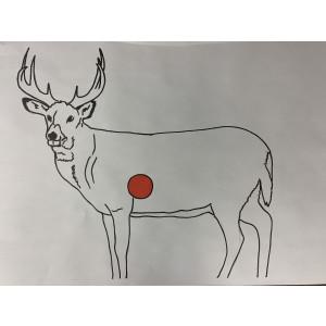 Deer Paper Target - 10 Pack