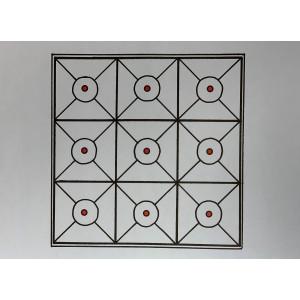 Bullseye Tic-Tac-Toe Paper Target - 10 Pack