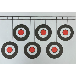 Hanging Targets Paper Target - 10 Pack