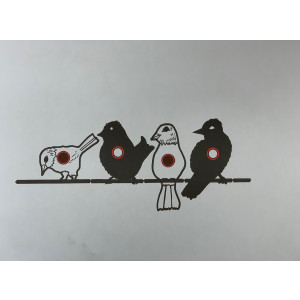 Birds On A Wire Paper Target - 10 Pack