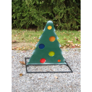 Christmas Tree Deuling Trees Target Stand - Steel Shooting Targets Ornaments Locked