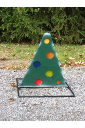 Christmas Tree Deuling Trees Target Stand - Steel Shooting Targets Ornaments Locked